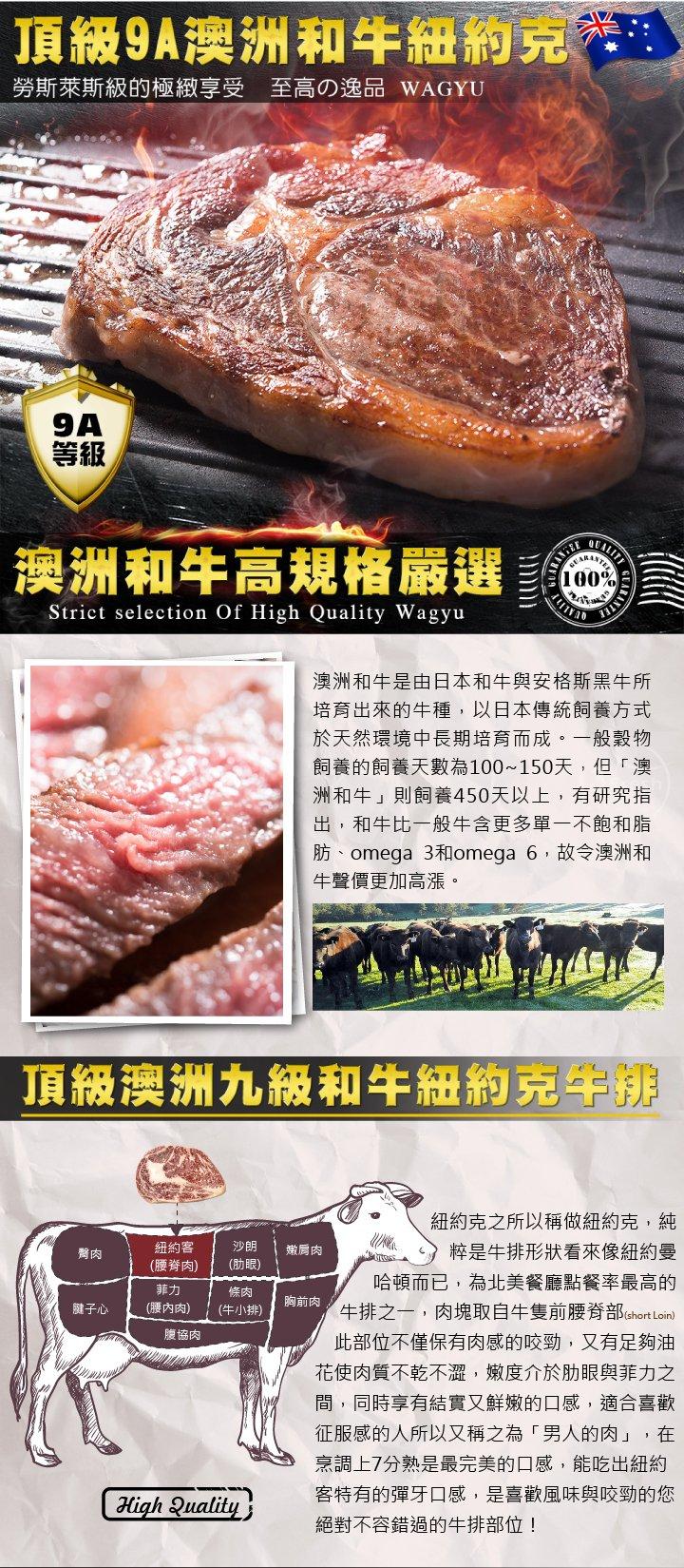 頂級9A澳洲和牛紐約客牛排