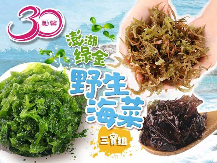 勵馨30澎湖綠金野生海菜組