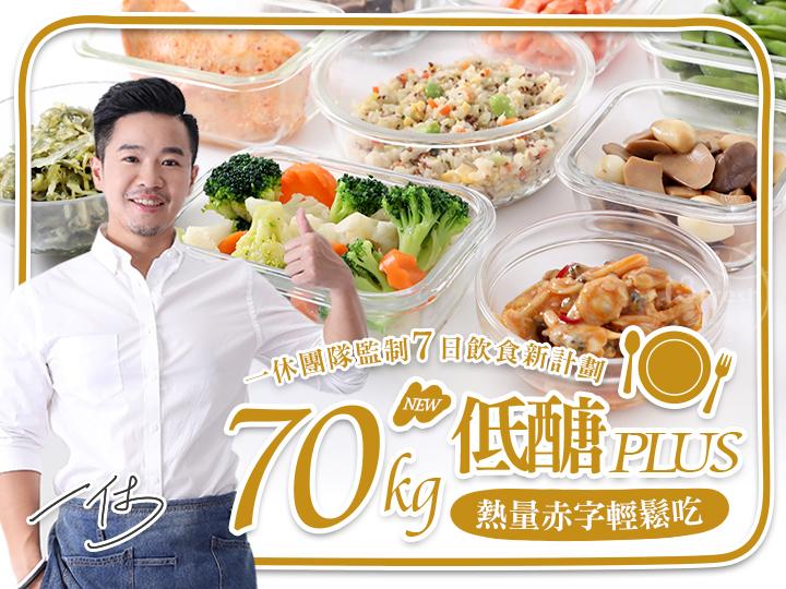70kg一休低醣熱量赤字餐